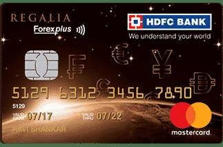 HDFC Regalia ForexPlus Card