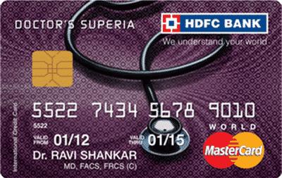 HDFC Doctors Superia Credit Card