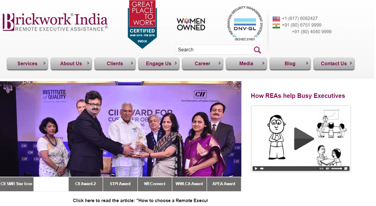 Brickwork India | Best Virtual Assistant Companies in India