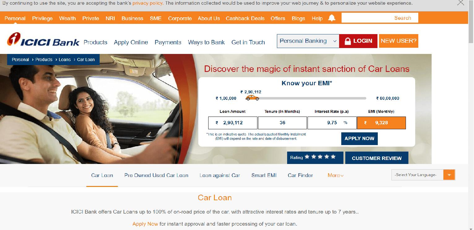 ICICI Bank Car Loan