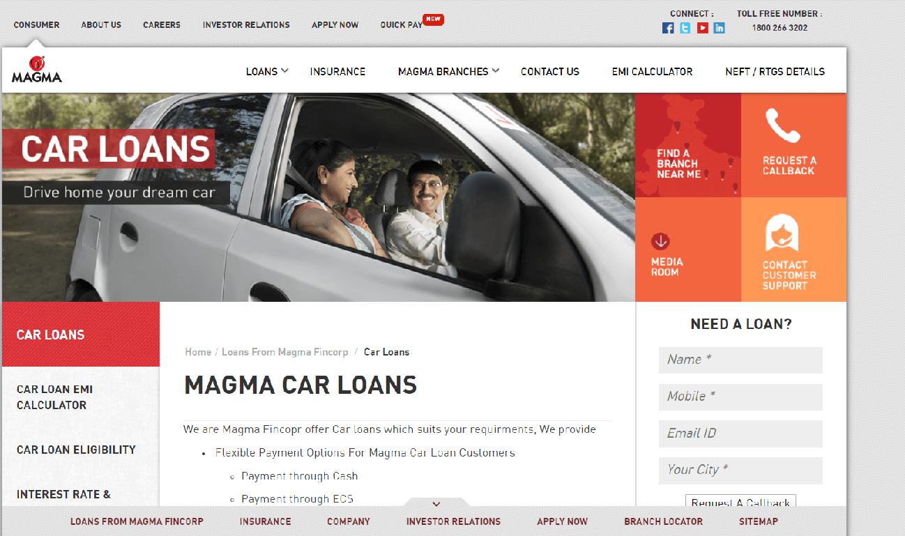 Magma Fincorp Car Loan