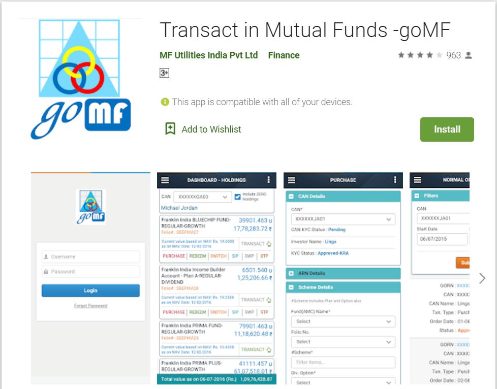 GoMF App by MF Utilities