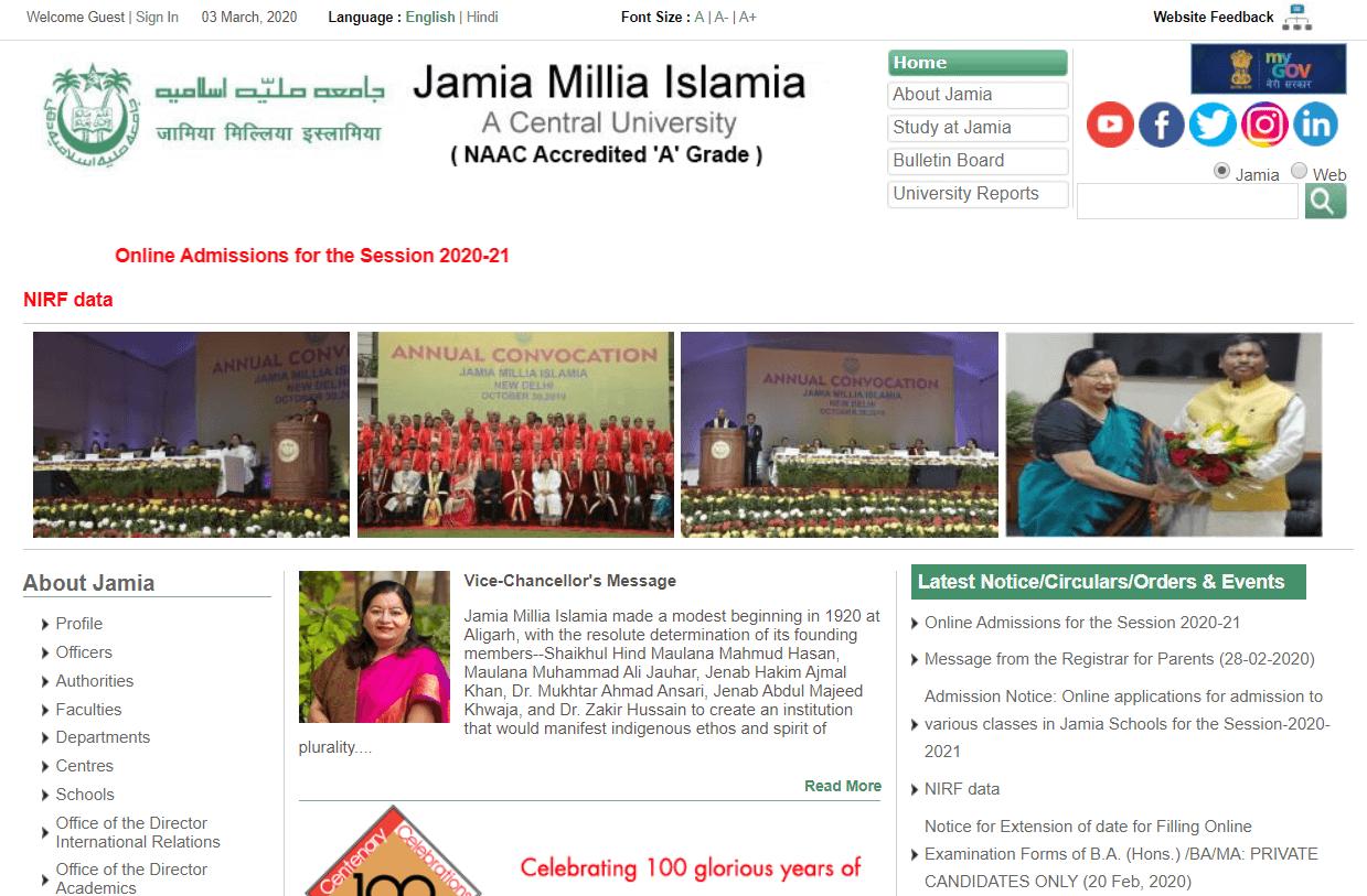 Jamia Millia Islamia, New Delhi