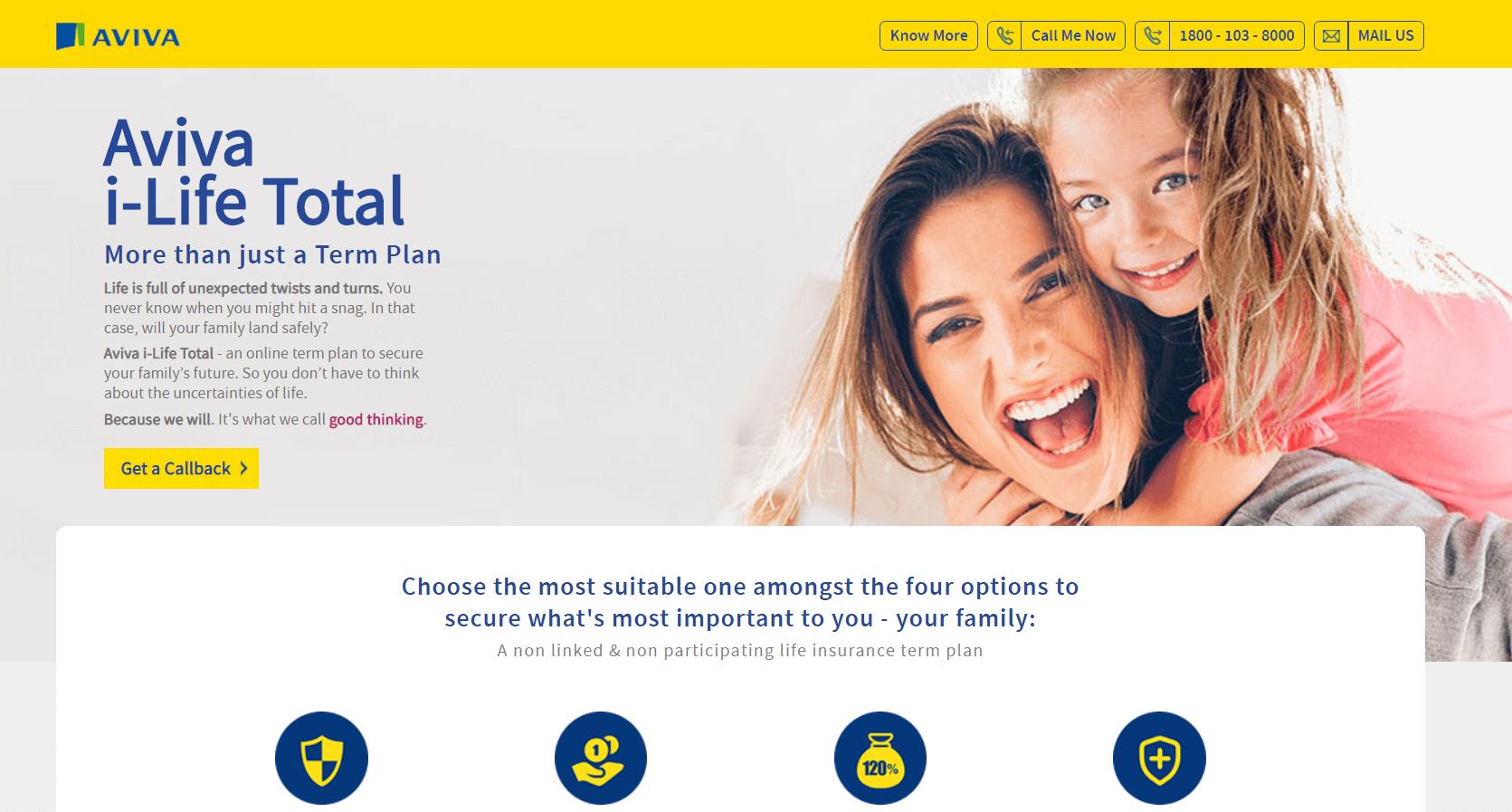 Aviva iLife Plan | 15 Best Term Insurance Plans in India 2020