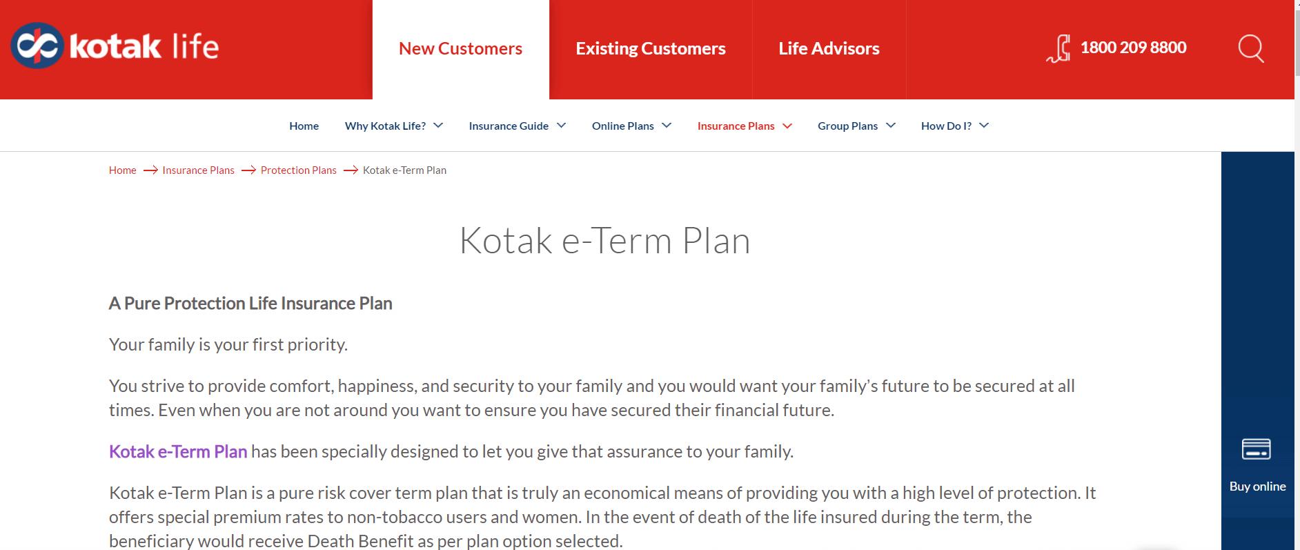 Kotak Preferred eTerm Plan