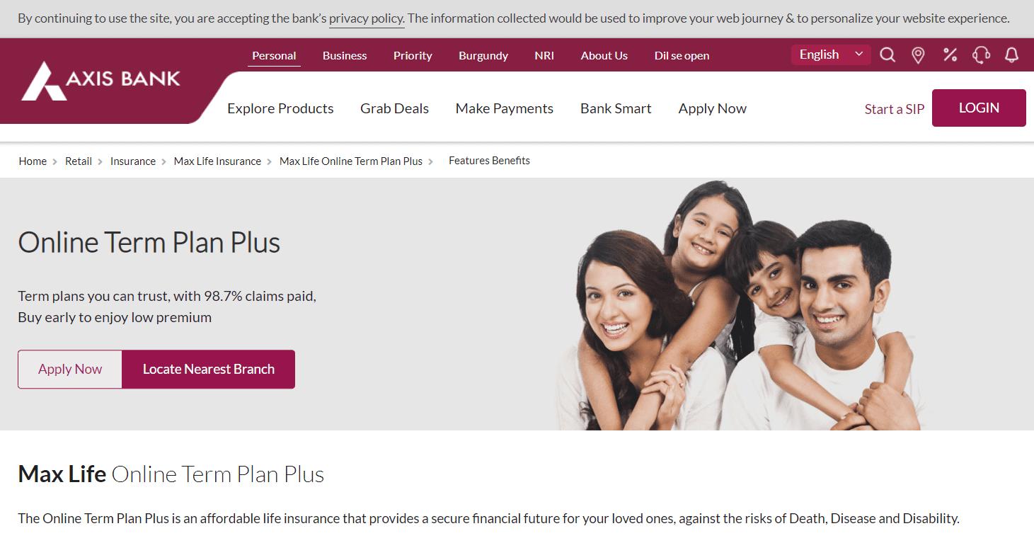 Max Online Term Plan Plus