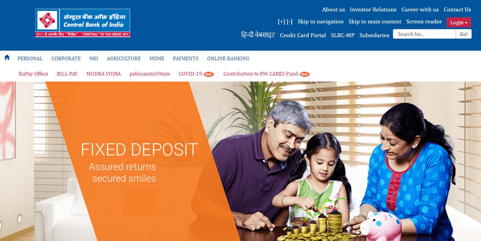 Central Bank of India RuPay Platinum Debit Card
