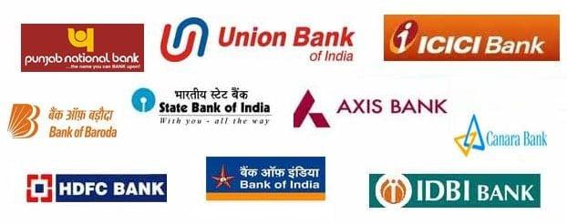 bank logo collage