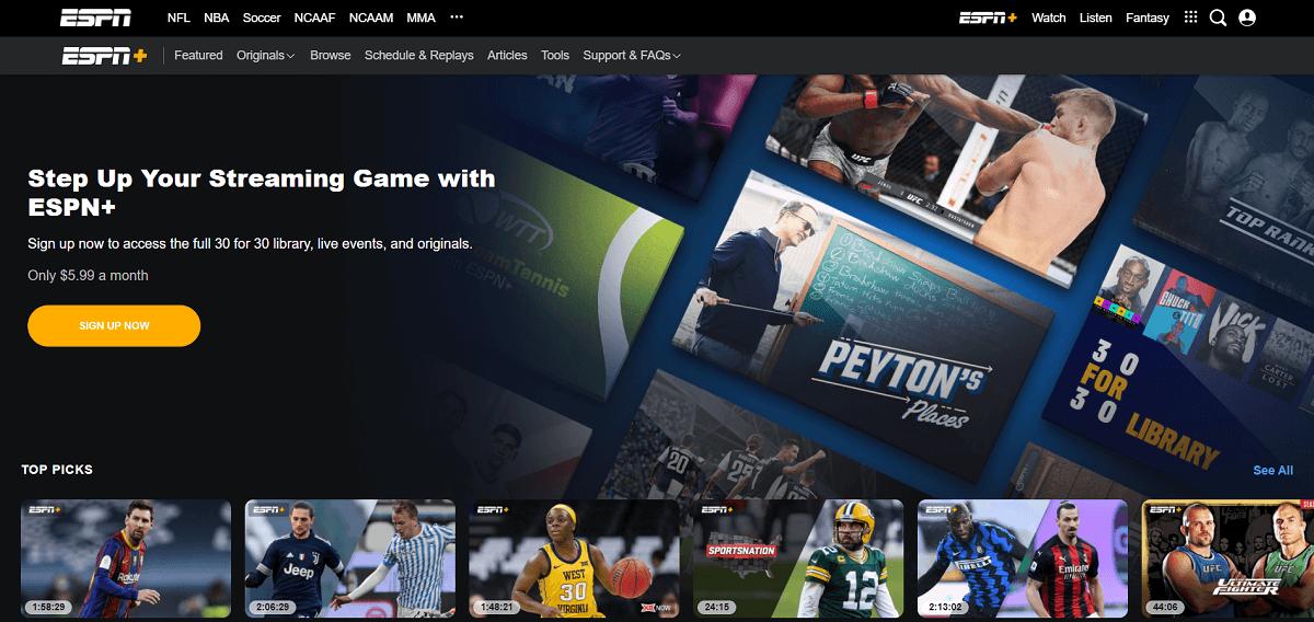 ESPN+ | Netflix Affiliate Program and Alternatives 2020