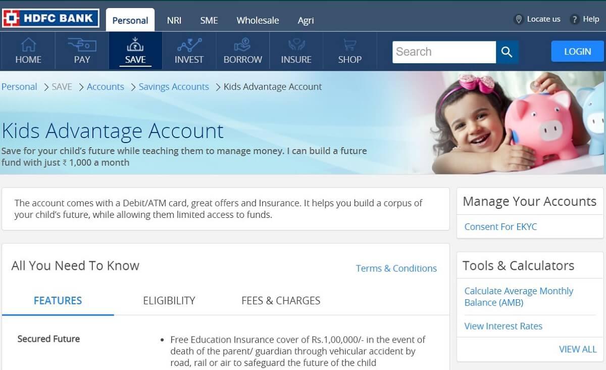 HDFC Bank Kids Advantage Account | Savings Bank Accounts For Children