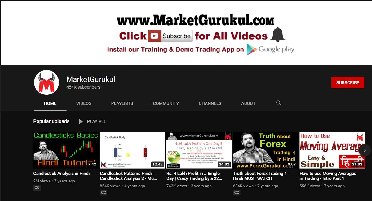 MarketGurukul | Best YouTube Channels for Indian Stock Market