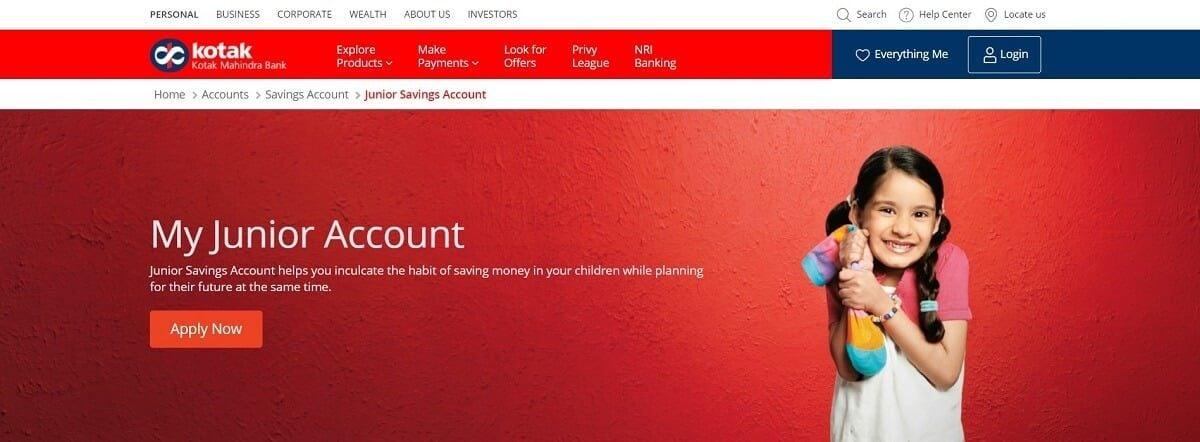 My Junior Account by Kotak Mahindra Bank | Savings Bank Accounts For Children