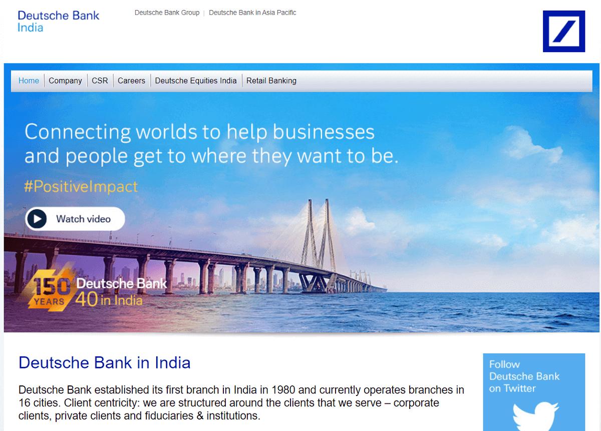 Deutsche Bank in India