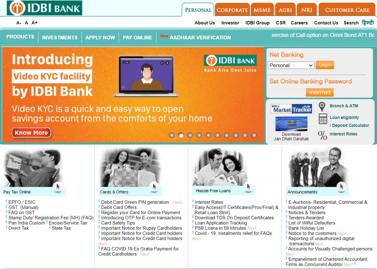 IDBI Bank   All Bank Balance Enquiry Number List (toll-free)