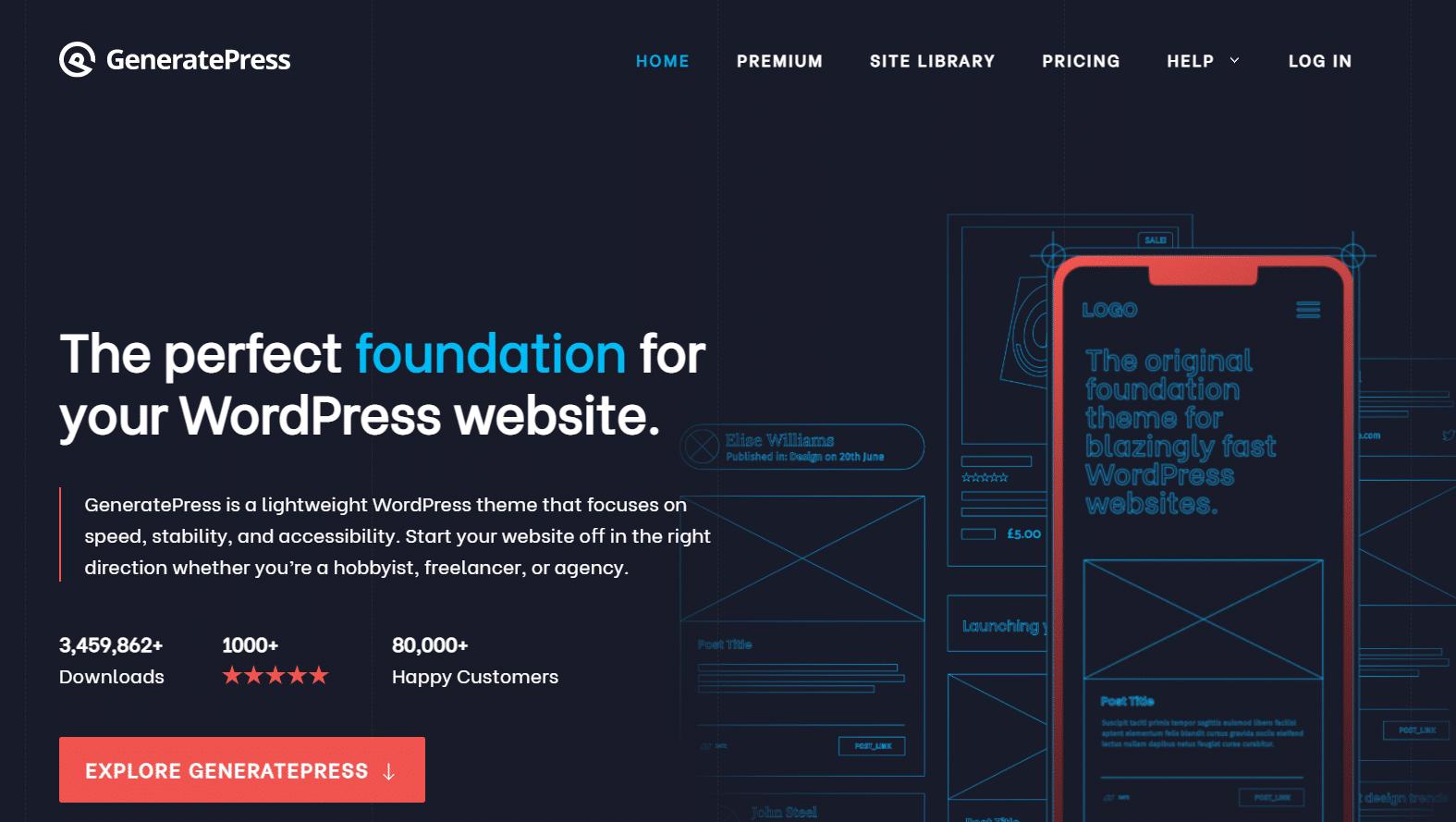 GeneratePress Free vs Premium