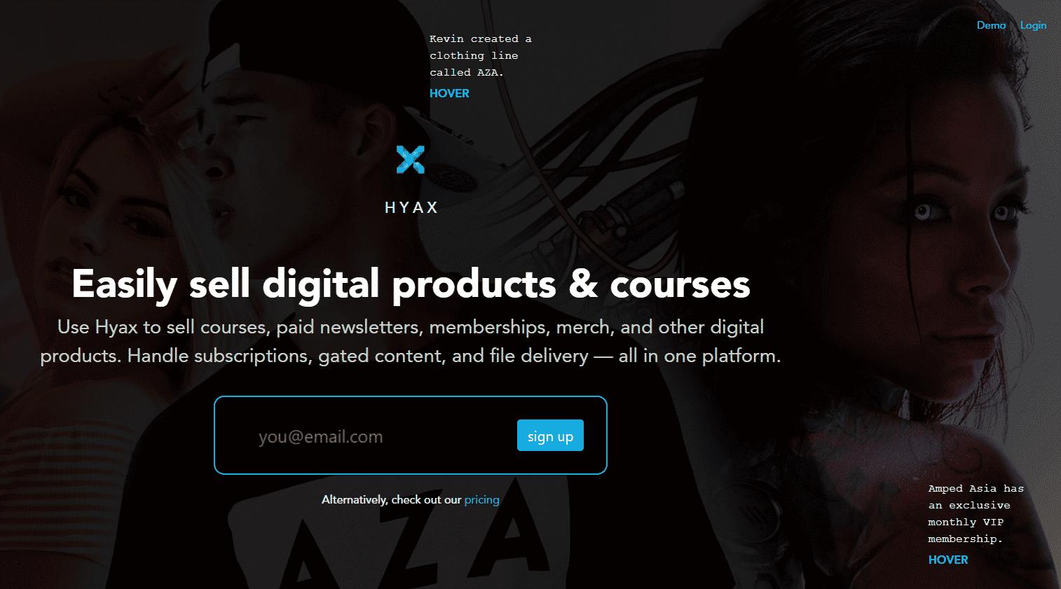 Hyax Sell Digital Products