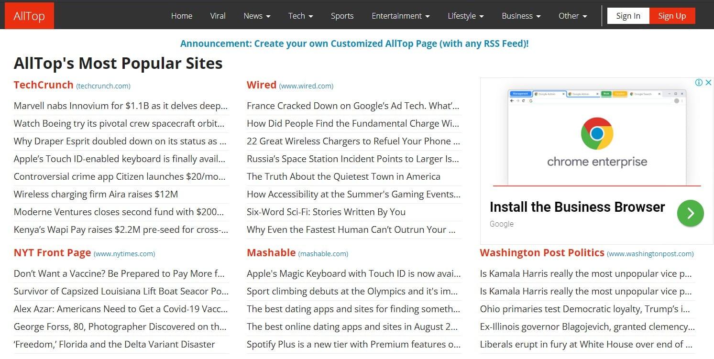 Alltop   Blog Submission Sites List