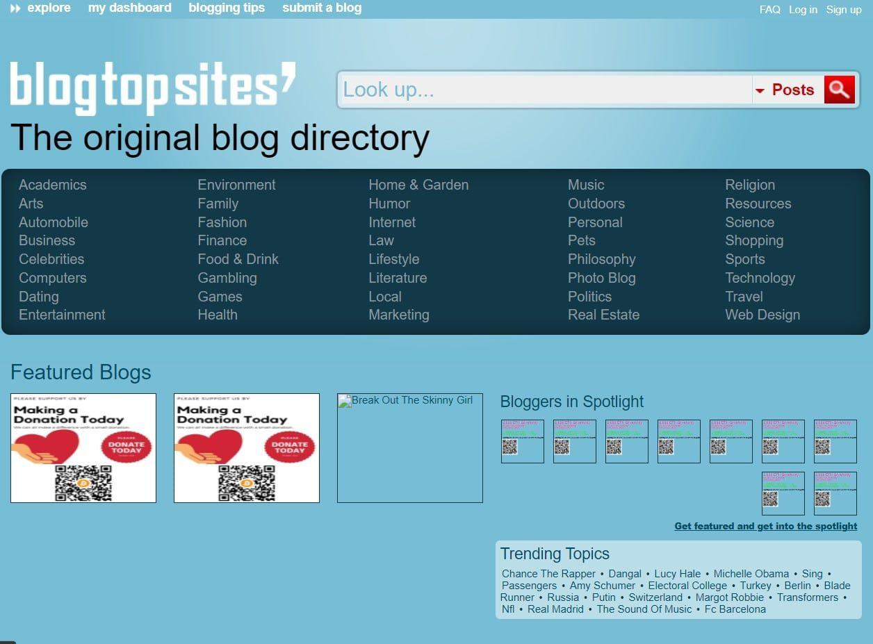 Blog Top Sites   Blog Submission Sites List