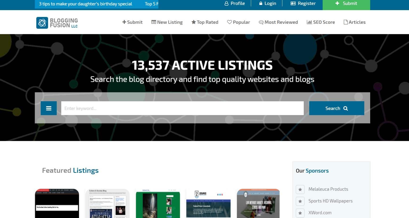 Blogging Fyusion   Blog Submission Sites List